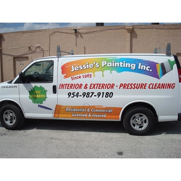 Full color contour cut vinyl graphics with text