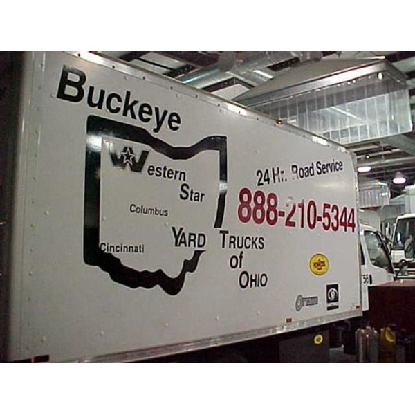 Graphics, lettering and decals for trailer